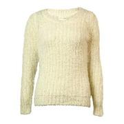 Maison Jules Long-Sleeve Open-Stitch Sweater Size XS