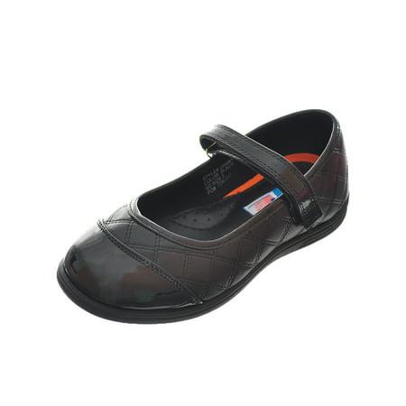 Angels Girls' Mary Jane Shoes (Youth Sizes 13 - 4) - Girls Black Mary Jane Shoes