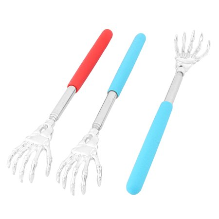 Unique Bargains Household Plastic Handle Portable Extendable Telescopic Back Scratcher 3pcs (Plastic Back Scratcher)
