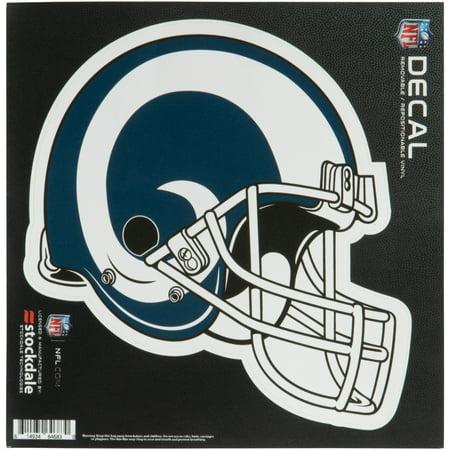 Los Angeles Rams 6'' x 6'' Helmet Die-Cut Repositionable Vinyl Decal - No