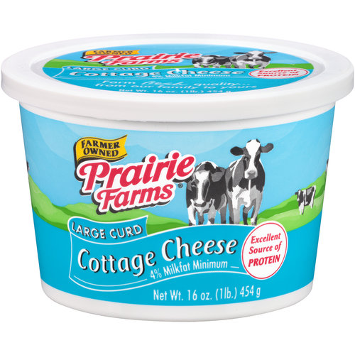Prairie Farms Large Curd Cottage Cheese, 16 oz