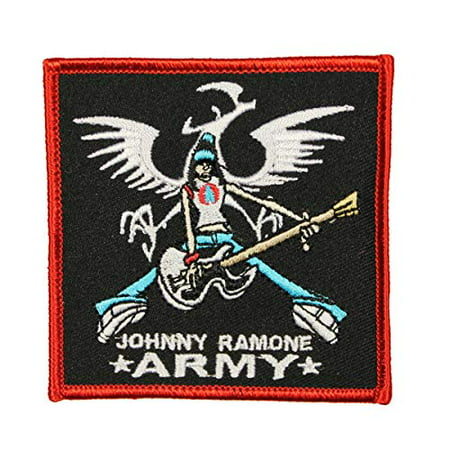 The Ramone - Johnny Ramone - Guitar Pose - Iron on or Sew on Embroidered Patch Zoom Guitar Patches
