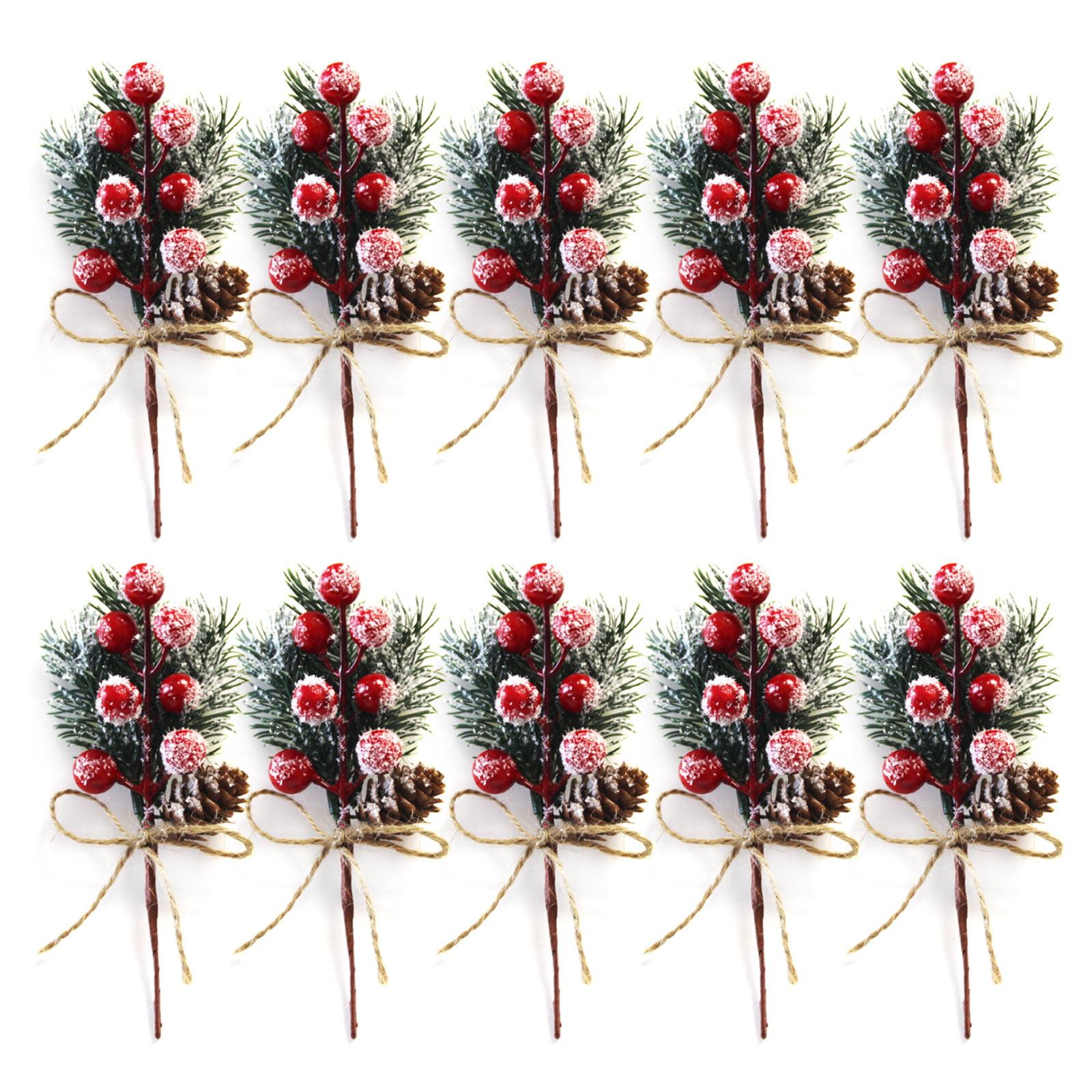 Christmas Berry Artificial Pine Cone For Xmas Decor Fake Flower Artificial Pine