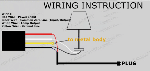 Touch Lamp Switch Wiring Diagram from i5.walmartimages.com