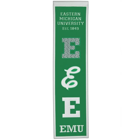 "Eastern Michigan Eagles 8"" x 32"" Premium Heritage Banner - No Size"
