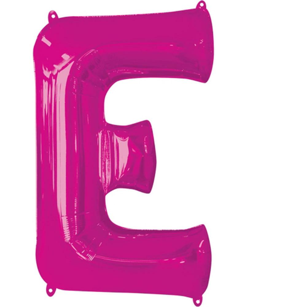 """Giant Pink Letter E Foil Balloon 32"""""""