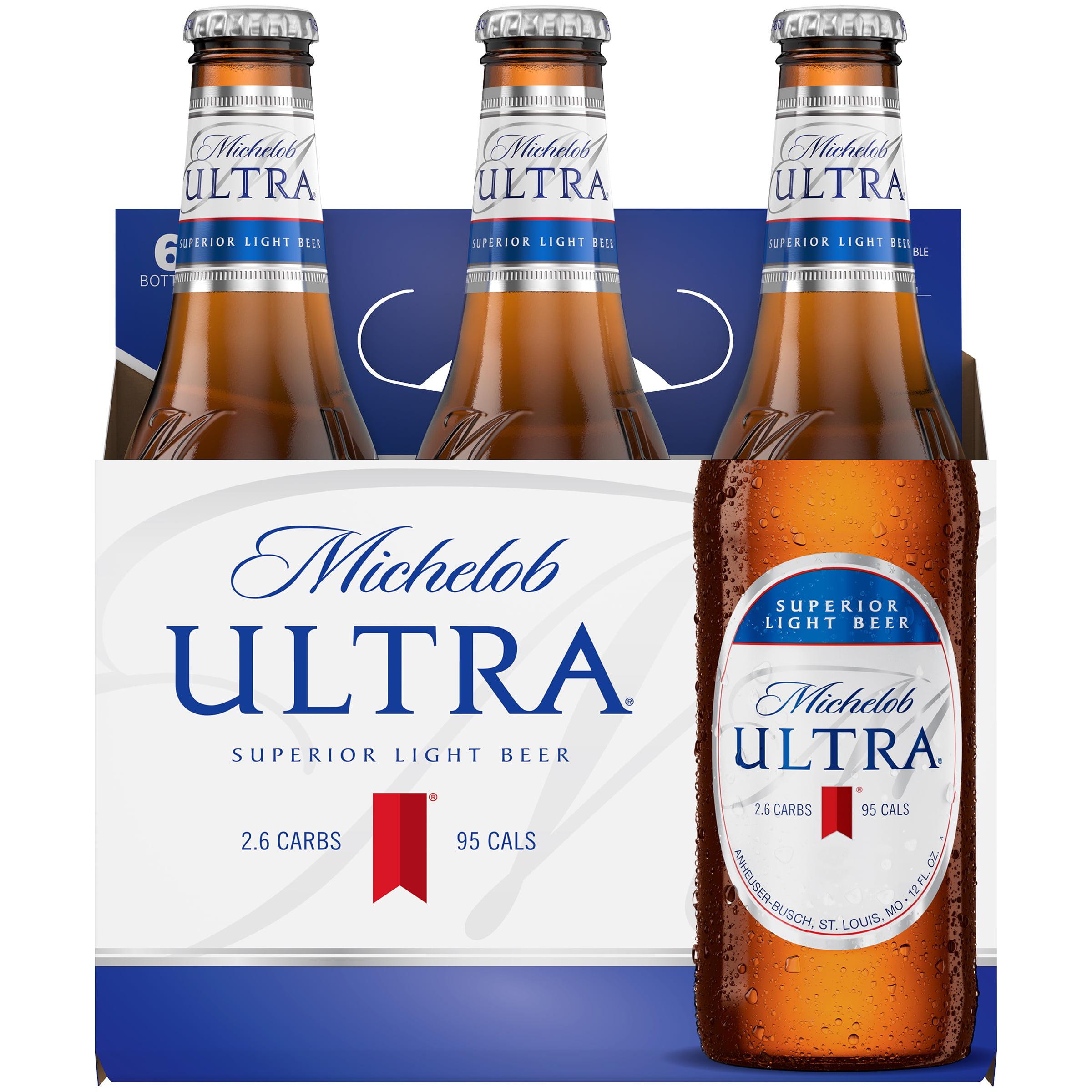 Michelob Ultra Beer, 6 pk 12 fl. oz. Bottles - Walmart.com