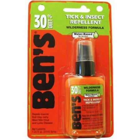 2 Pack - Ben's 30 DEET Tick and Insect Repellent 1.25 oz Deet Tick Repellent