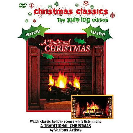 christmas classics the yule log edition a traditional christmas music dvd - Christmas Music Classics