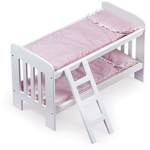"""Badger Basket Doll Bunk Beds with Ladder - Fits Most 18"""" Dolls & My Life As"""