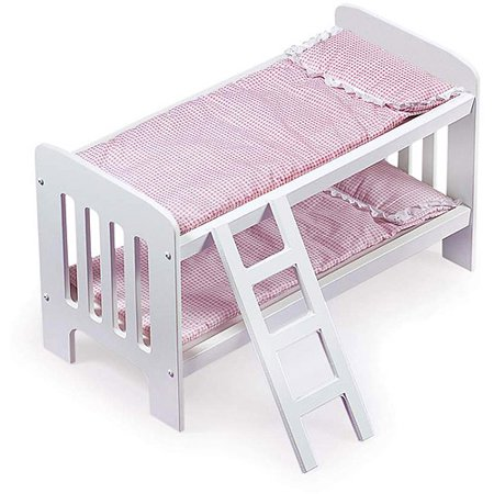 "Badger Basket Doll Bunk Beds with Ladder Fits Most 18"" Dolls & My Life As by"
