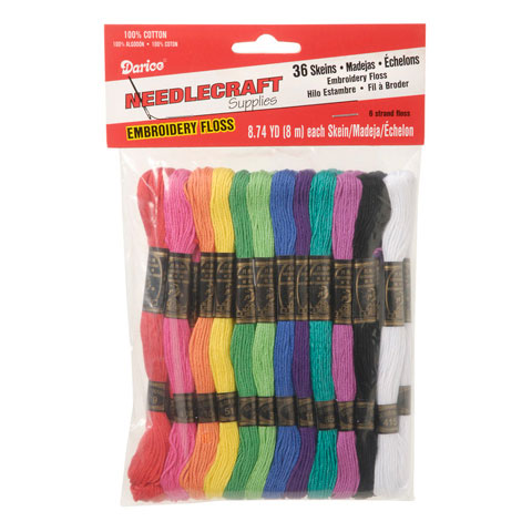 Cotton Embroidery Floss: Rainbow Colors