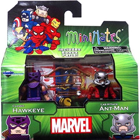 Marvel Minimates Best of Series 3 Minifigure 2-Pack Classic Hawkeye & Lab Attack Ant-Man, Marvel Minimates Best of Series 3 Classic Hawkeye & Lab Attack Ant-Man By Diamond Select Ship - April Ship
