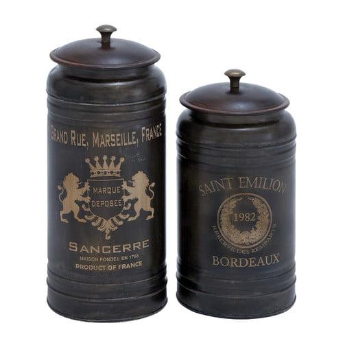 Woodland Imports 2 Piece Decorative Jar Set by BENZARA