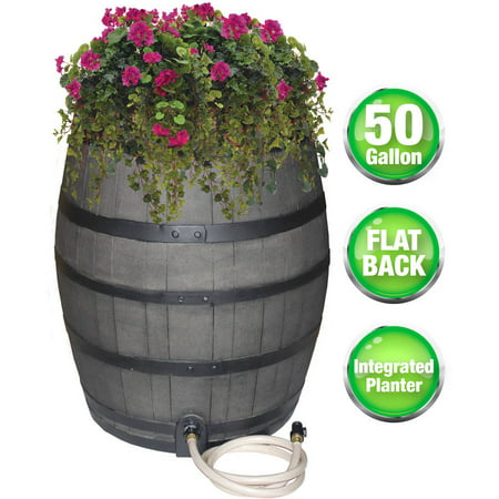 Emsco 50 Gal. Flatback Rain Barrel