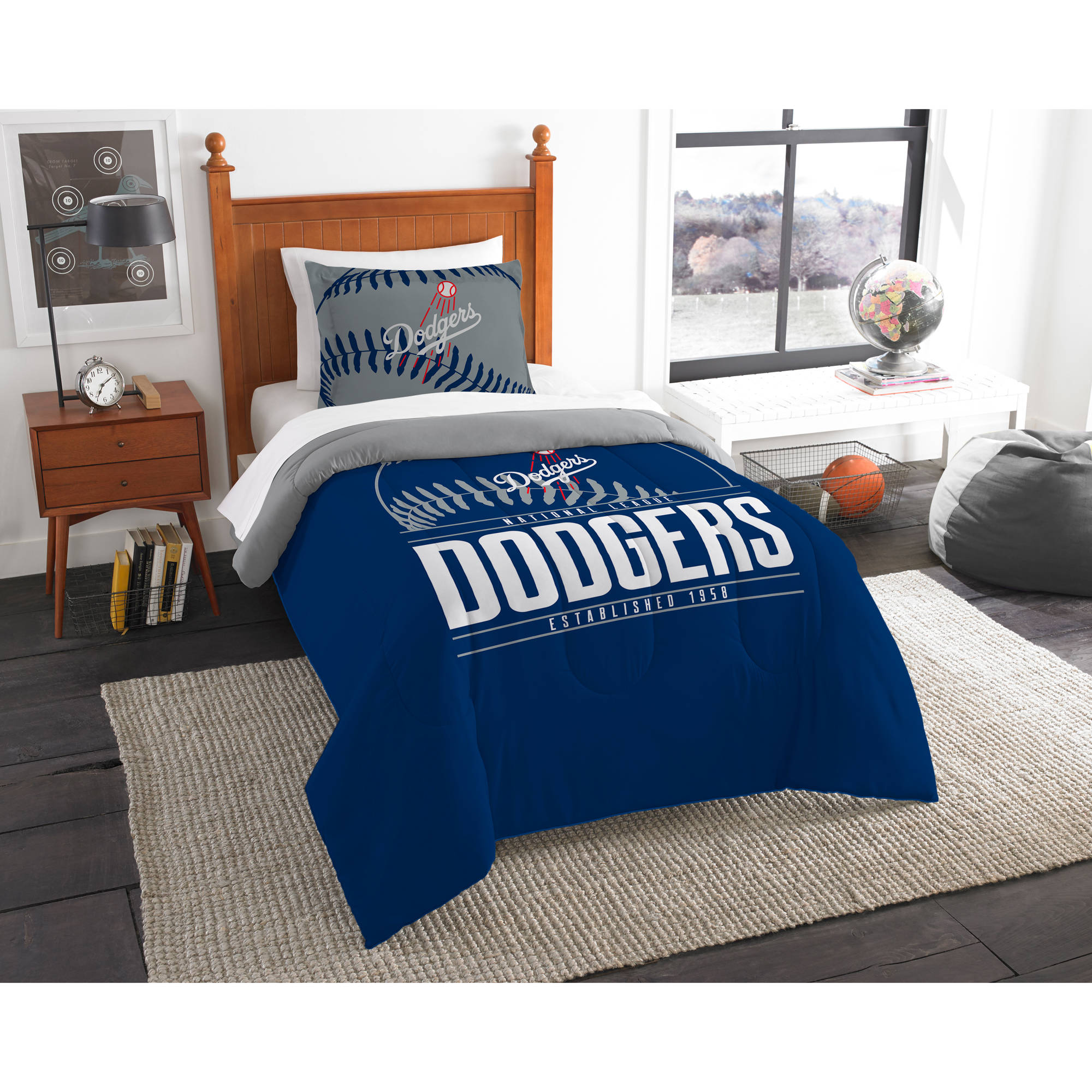 "MLB Los Angeles Dodgers ""Grand Slam"" Bedding Comforter Set"