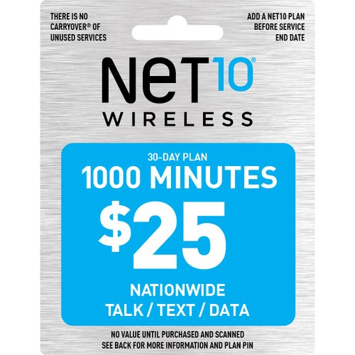 NET10 Wireless $25 1000-Minute Prepaid Phone Card