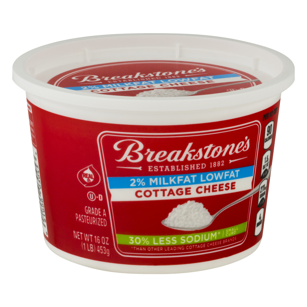 Breakstones Lowfat 30 Less Sodium Cottage Cheese 16 Oz