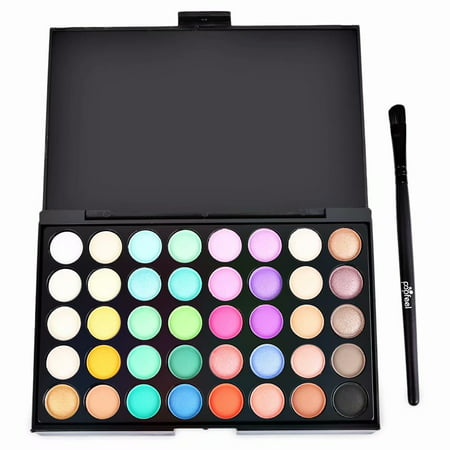 Cats Eye Makeup For Halloween (Akoyovwerve 40 Colors Professional Eyeshadow Eye Shadow Palette Makeup Kit)