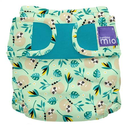 Multi Stripe Diaper Cover (Bambino Mio, miosoft cloth diaper cover, swinging sloth, size 2 (21lbs+))