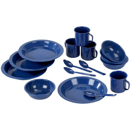 StanSport Enamel Camping Tableware Set