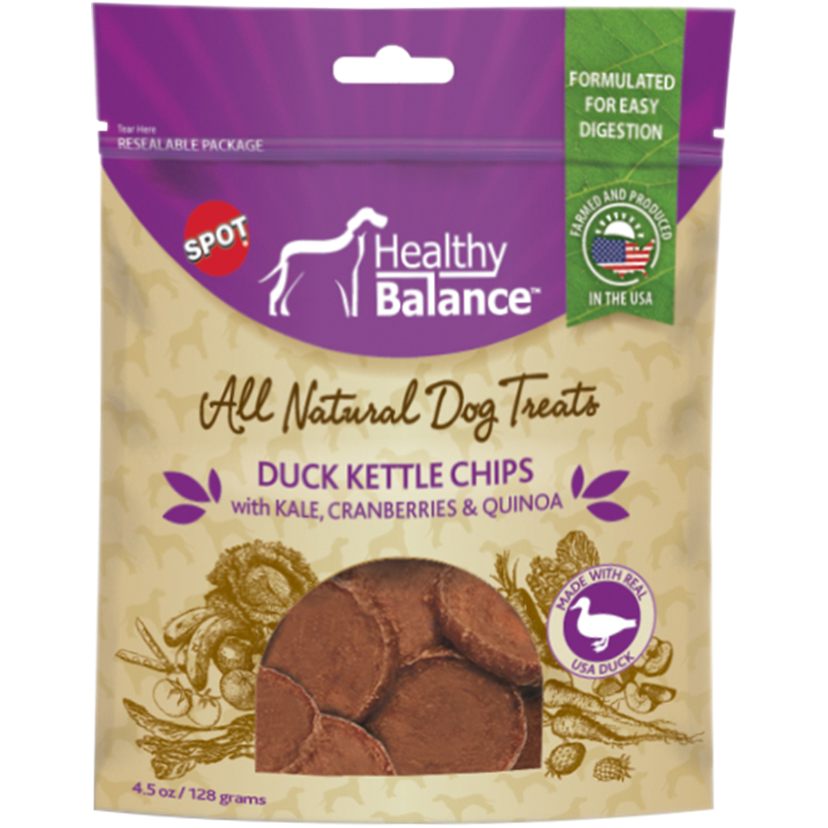 Healthy Balance Kettle Chips 4.5Oz-Duck by Ethical Pets