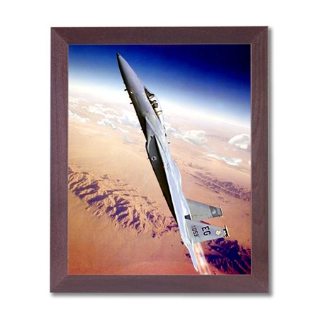 F15 Eagle Fighter Jet Airplane Wall Picture Cherry Framed Art (F15 Eagle)