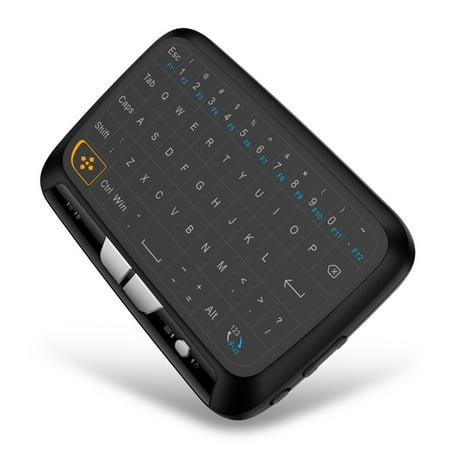 Docooler H18 2.4GHz Clavier Sans Fil Télécommande Touchpad Complète Mode Souris Clavier avec Grand Pavé Tactile Retour de Vibrations pour Smart TV Boîte TV Android PC Portable - image 6 of 7