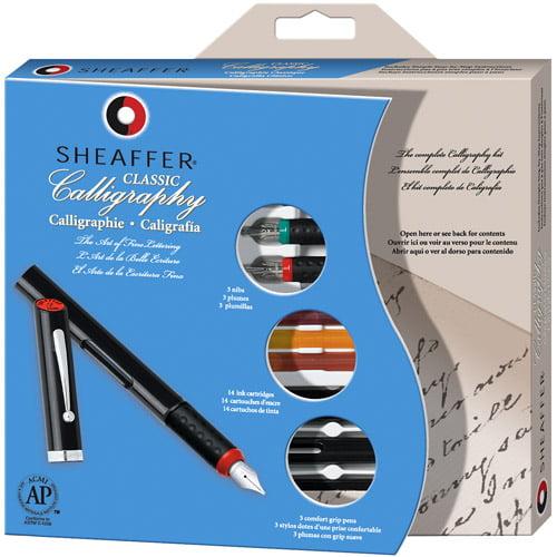 Sheaffer Calligraphy Pen Set, Maxi Kit, 4 Nibs, 1/Ea
