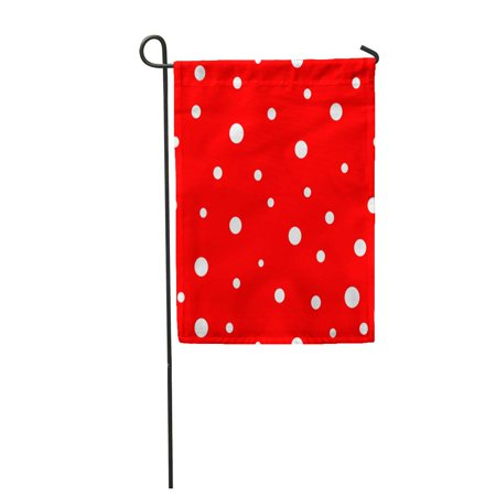 Nudecor Red Big Polka Dot Graphic Modern Abstract Colorful Small