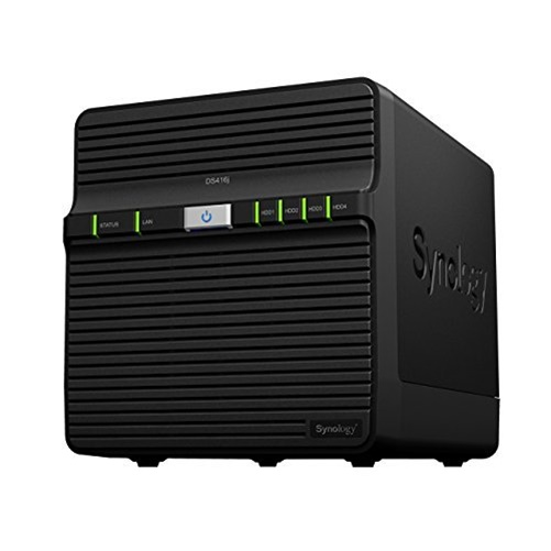Synology Storage DS416J Network Attached Storage DiskStation 4Bay Marvell Armada 88F6828 Dual-Core Diskless Retail