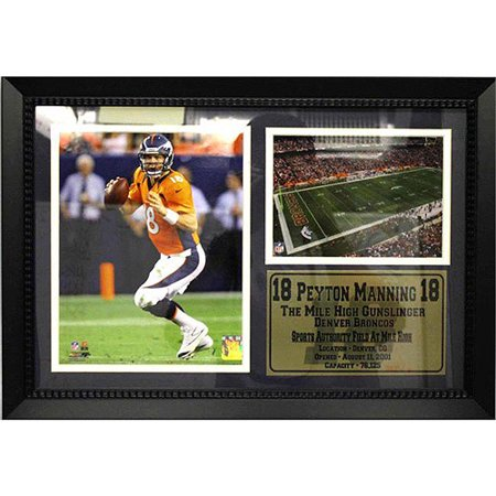 NFL Peyton Manning Photo Stat Frame, 12x18 18' Photo Stat Frame