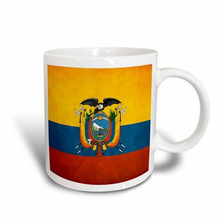 3dRose Ecuador Flag, Ceramic Mug, 11-ounce