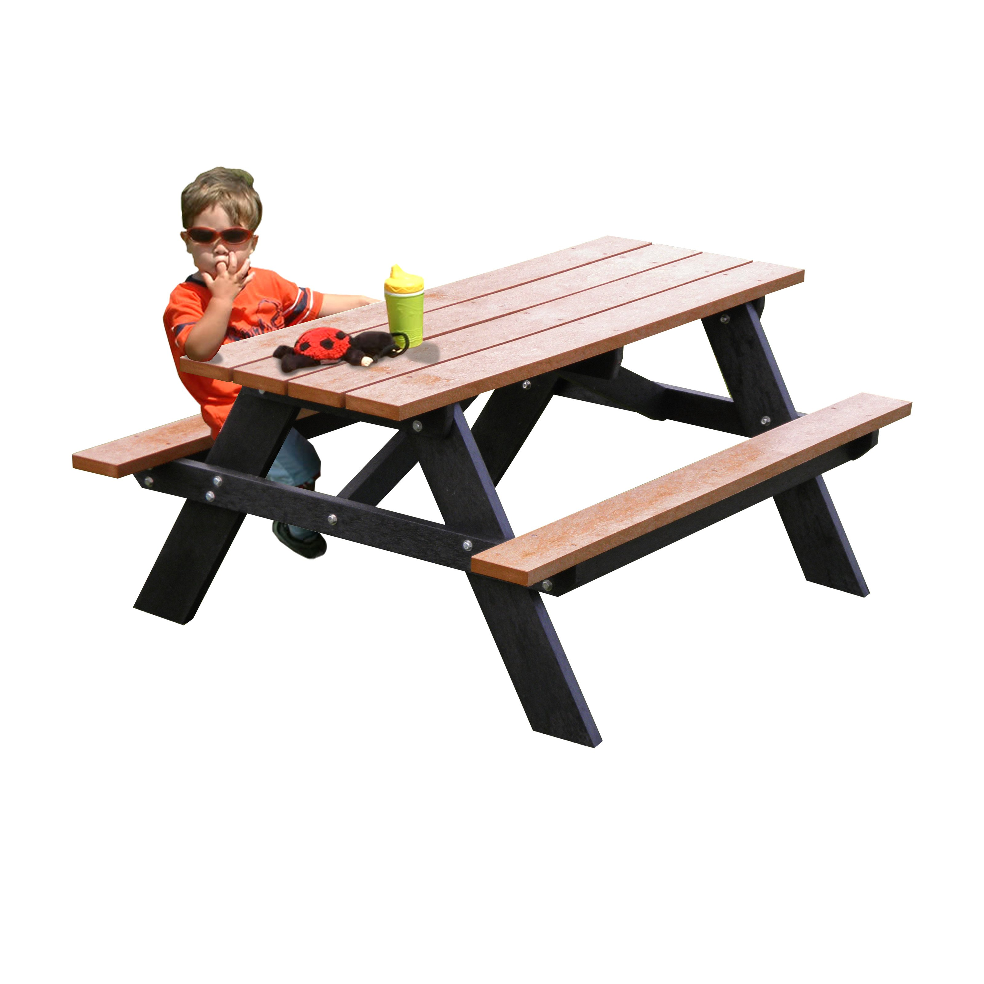 Polly Products Econo-Mizer Recycled Plastic Youth Picnic Table