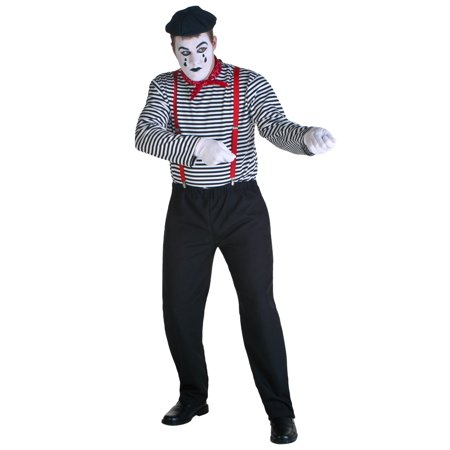 Adult Mime Costume for $<!---->