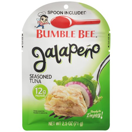 (8 Pack) Bumble Bee Jalapeno Seasoned Tuna, 2.5 oz Pouch