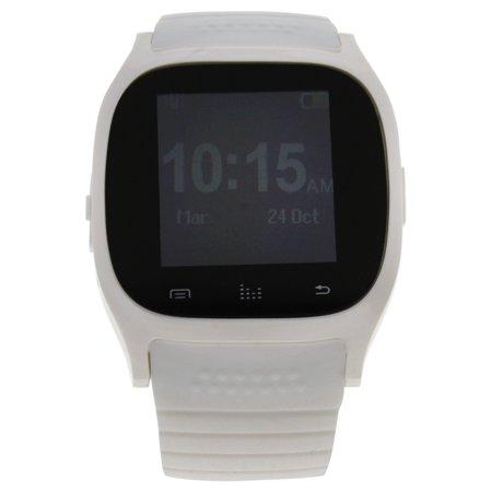 eclock ek b1 montre connectee white silicone strap smart watch. Black Bedroom Furniture Sets. Home Design Ideas