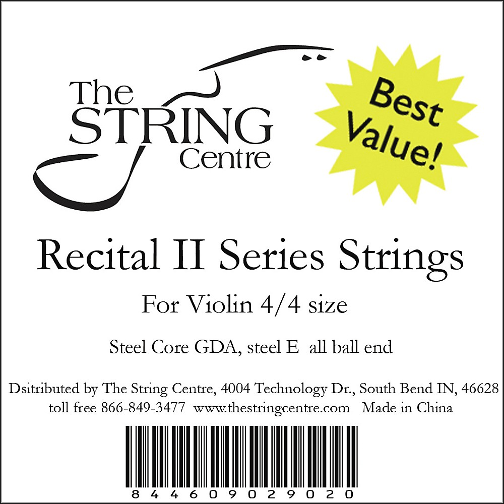 The String Centre Recital II Violin String set 4 4 Size by The String Centre