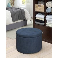 Convenience Concepts Designs4Comfort Round Shoe Ottoman, Multiple Finishes