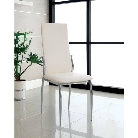 Furniture of America Kamerin Modern Leatherette Dining Chair, -