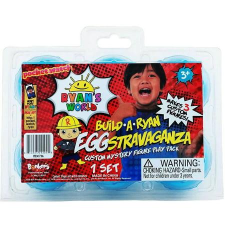 - Ryan's World Build a Ryan Eggstravaganza Custom Mystery Figure Play Pack Set
