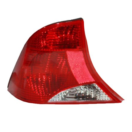 NEW LEFT TAIL LIGHT FITS FORD FOCUS 2000-2003 FO2800187 2S4Z-13405-AA 2S4Z 13405 AA 3 BULB WITHOUT BLACK TRIM