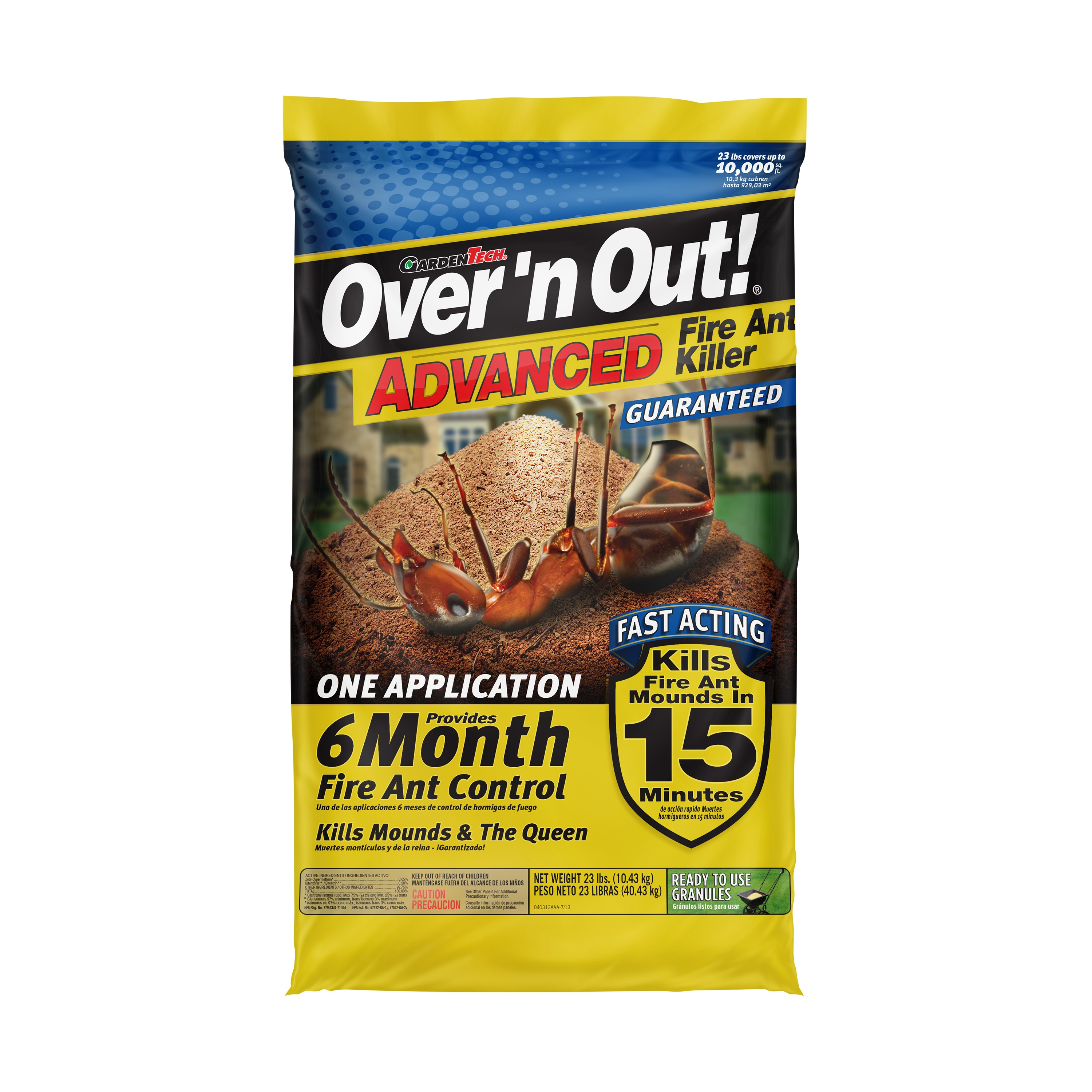 Over 'n Out Advanced Fire Ant Killer Ready to Use Granules, 23 Pounds