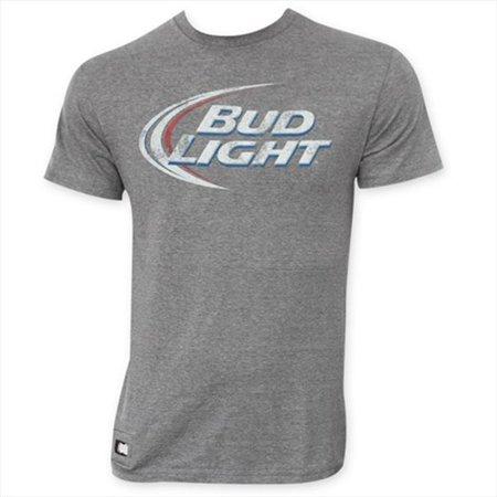 Tees Bud Light Mens Grays Faded Logo Pop Top T Shirt Xxl