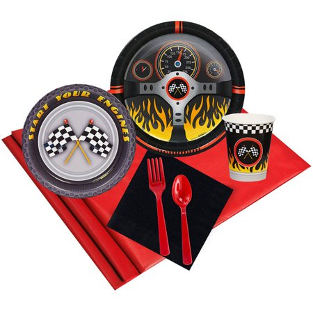 Racecar Racing Party 16-Guest Party Pack - Racing Party