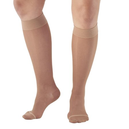 Ames Walker Women's AW Style 18 / 43 Sheer Support Closed Toe Compression Knee High Stockings - 20-30 mmHg Nylon/Spandex 18-P