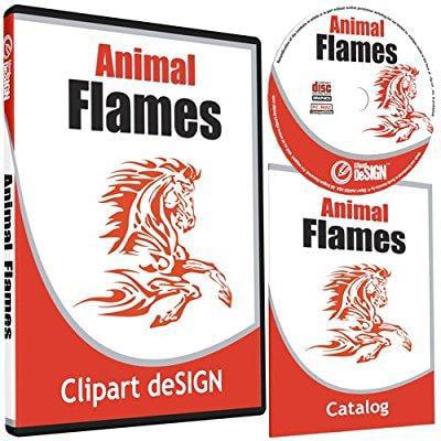 Animal Flames Clipart Animal Vinyl Cutter Plotter Clip Art Graphics Digital Sign Design Images Eps Vector Art Software Cd Rom