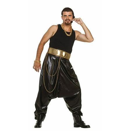 Rap Star Hammer Costume Black Pants Adult Standard