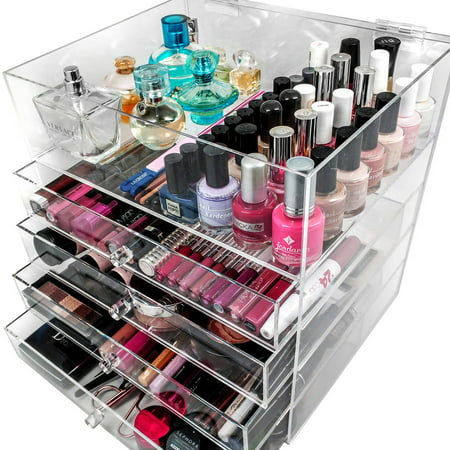 Sorbus 5 Tier Acrylic Cosmetic and Makeup Storage Case Organizer, Space-Saving - Tiger Makeup