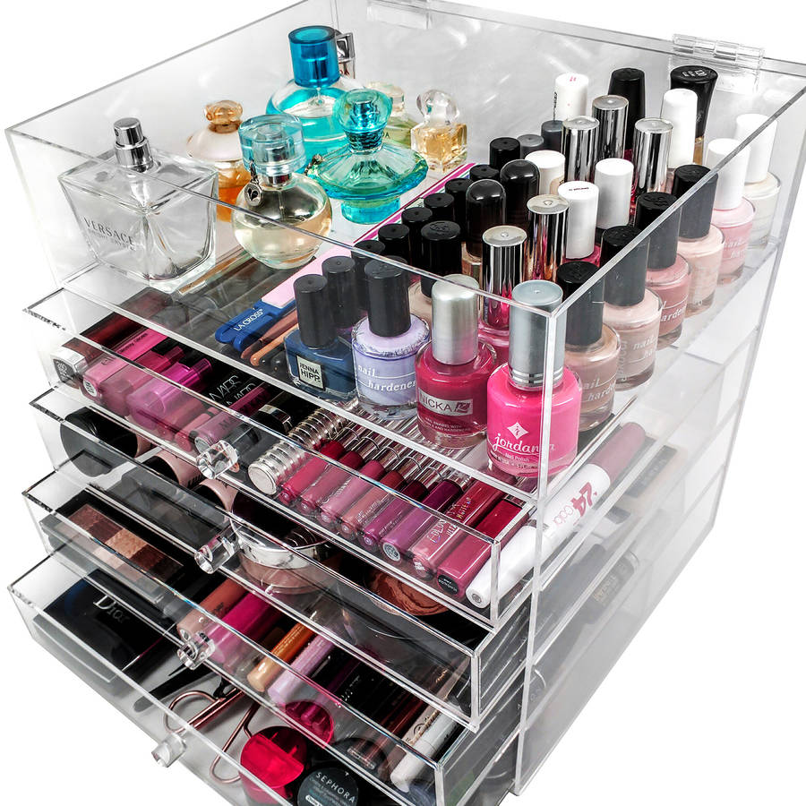 Sorbus 5 Tier Acrylic Cosmetic and Makeup Storage Case Organizer, Space-Saving